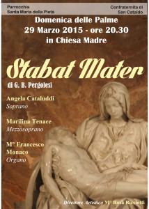 Locandina concerto 'Stabat Mater'