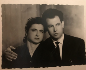 Matteo Bocale e Maria Grazia Columpsi negli anni 50