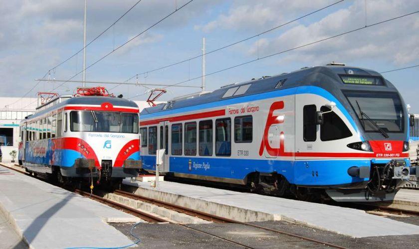 Nella foto: treni Ferrovie del Gargano