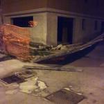 Il recinto del cantiere della casa riposo anziani (Via Di Vagno-Villa)