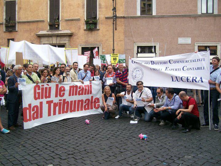 Le mobilitazione pro tribunale